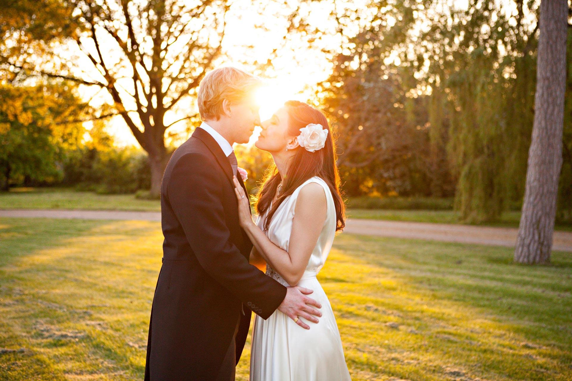 sunset wedding photograph
